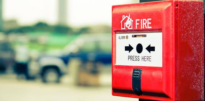 Instalação de sistemas de incêndio